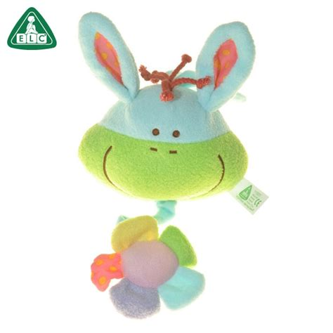 Elc Blossomfarm Softbook elc blossom farm sit me up pull bell green rattle sound when pull it 0 12