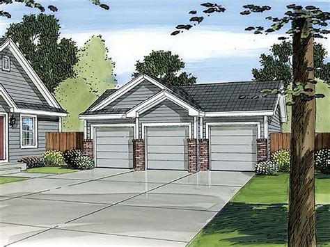 Detached 3 Car Garage Plans by 3 Car Garage Plans Traditional Three Car Garage Plan
