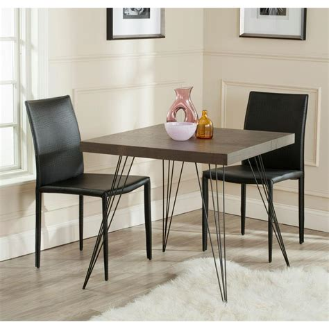 safavieh wolcott brown and black dining table