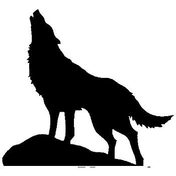 Animal Wall Stickers For Nursery amazon com newclew huge howling wolf silhouette removable