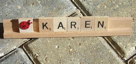 Handmade Nameplates - scrabble tile tiles desk nameplate name plate custom made