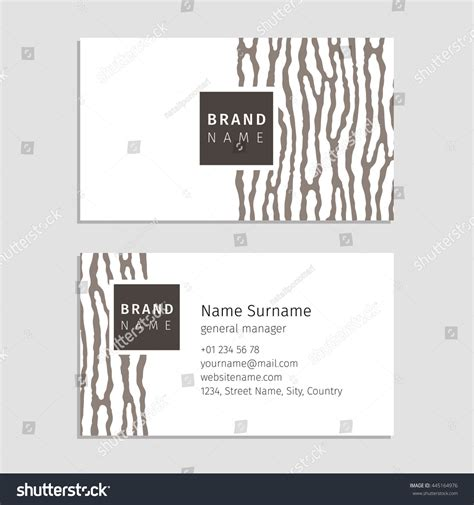 wood pattern card stock vector business card wood texture used stock vector