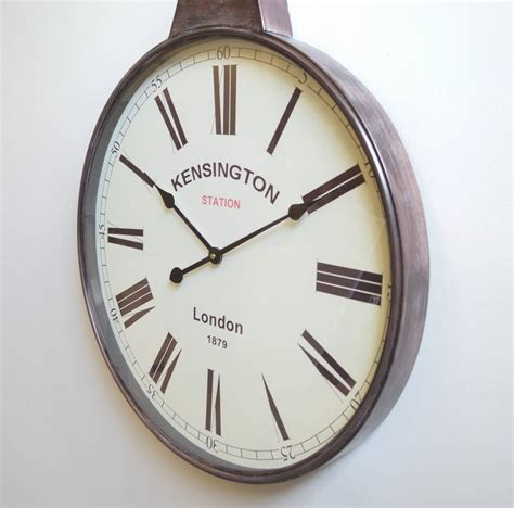 Original Pocket M 048 antique brass pocket wall clock by the orchard notonthehighstreet