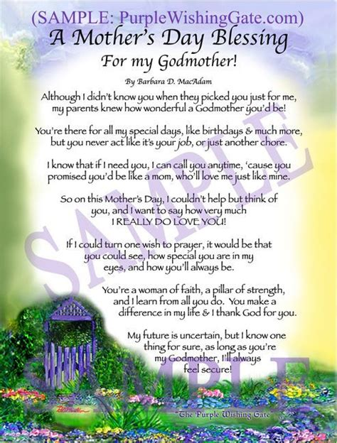 Mothers Day Gift Ideas by A Mother S Day Blessing For Godmother Gift Godmother