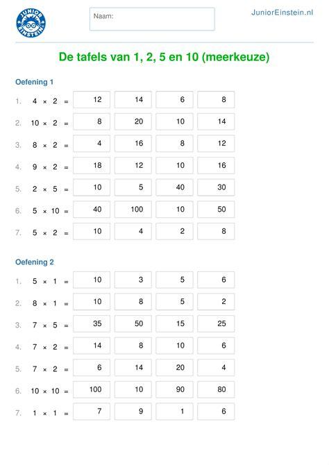 5 1 2 x 4 1 4 post card template werkblad de tafels 1 2 5 en 10 meerkeuze