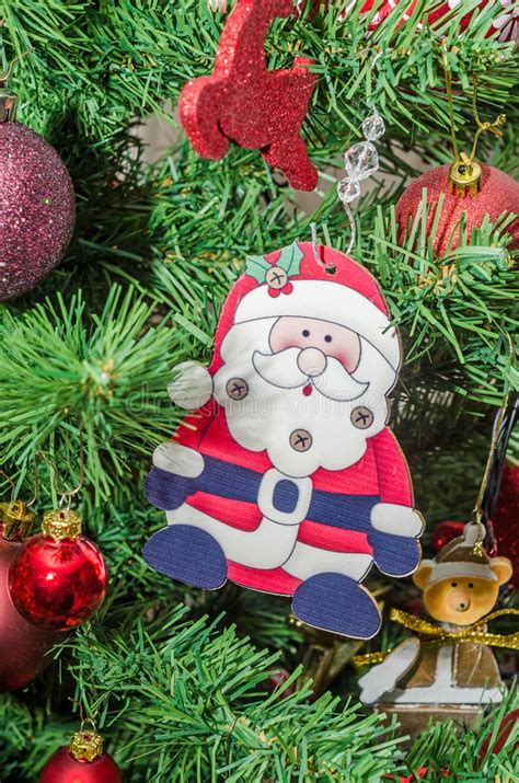 santa clause  christmas tree stock photo image  christmas winter
