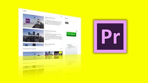 website tutorial adobe website display tutorial in adobe premiere pro chung dha