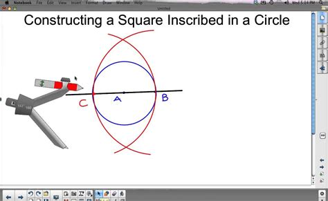 How To Make A Square In A Square Quilt Block by Construct A Square Inscribed In A Circle