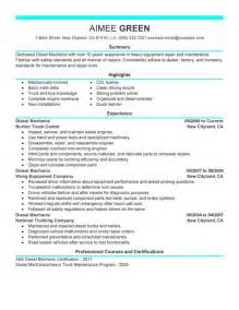 Small Engine Repair Sle Resume by Unforgettable Diesel Mechanic Resume Exles To Stand Out Myperfectresume
