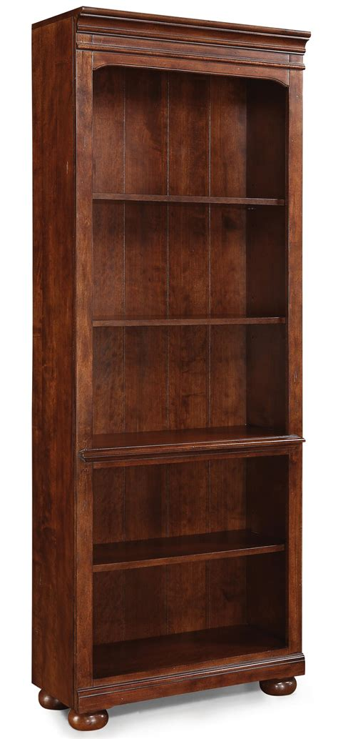 American Heritage Furniture flexsteel wynwood collection american heritage open bookcase with 4 shelves olinde s furniture
