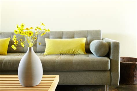 decorating yellow gray and green top three colors
