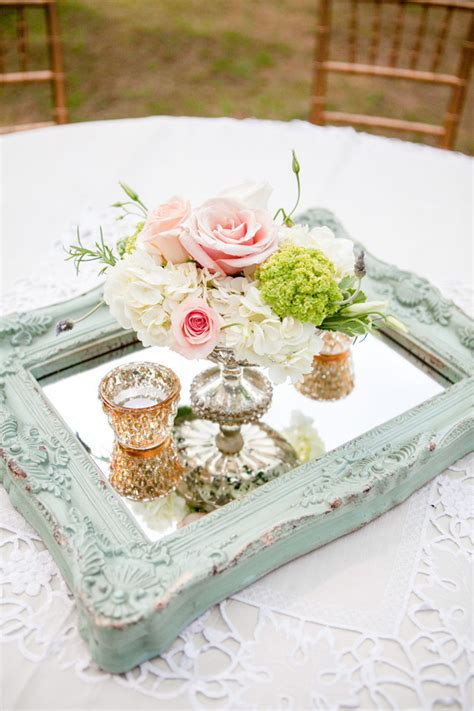 13 Brilliant Wedding Ideas To Use Mirrors Oh Best Day Ever Mirror Centerpieces Ideas