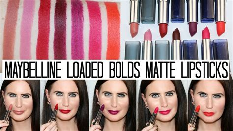 Diskon Maybelline Color Sensational The Loaded Bolds Lipstick maybelline loaded bolds matte lipsticks and swatches
