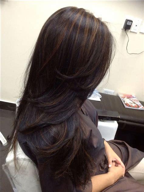 ideas  highlights black hair  pinterest