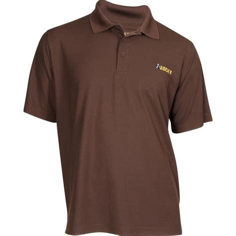 rocky brands logo sleeve polo shirt lw00075