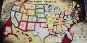 State Quarter Map by Whitman Quarter Map