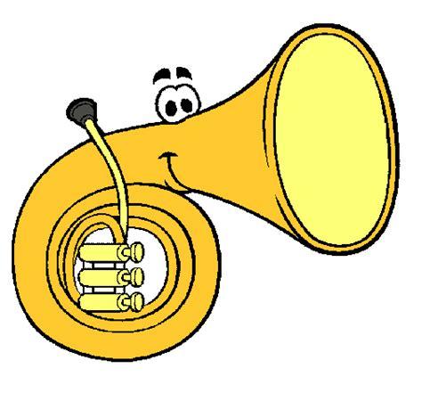 imagenes musicales animadas dibujo de trompa pintado por areli25 en dibujos net el d 237 a
