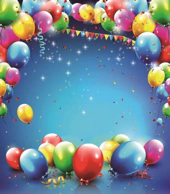 birthday blank layout design happy birthday colored balloon creative background 02