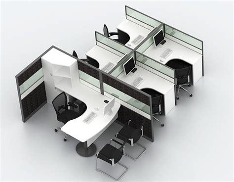 Meja Kantor Panel aluminium kaca partisi kantor dengan meja kayu laminate