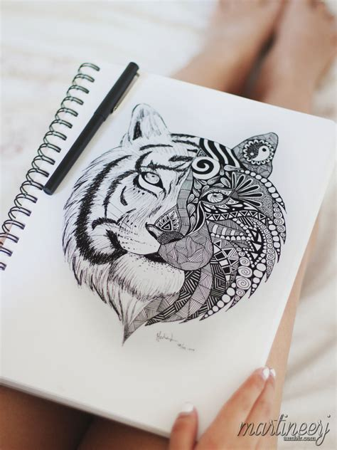mandala animal tattoo tumblr tiger mandala by martiinej on deviantart