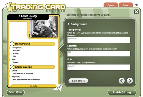 card creator trading card maker printable infocard co