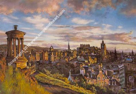 Landscape Artists Edinburgh Sunset Edinburgh From Calton Hill