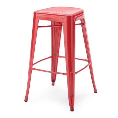 Kode 65181 Set set of 2 modern 30 inch metal bar stools in powder