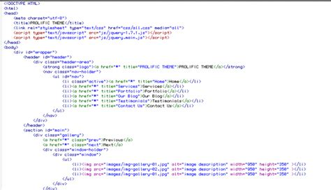 Html5 Pattern You Must Use This Format | image gallery html5 code