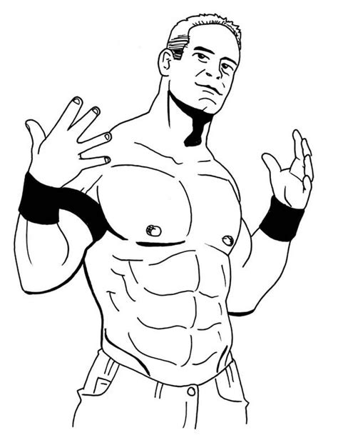 Wwe Color Pages | Sketches, Coloring pages, Easy coloring