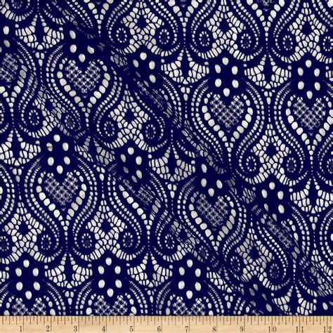 designer fabric ornamental lace navy discount designer fabric fabric com