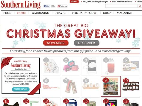 The Great Christmas Giveaway - southern living s quot the great big christmas giveaway quot sweepstakes