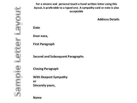 Closing Bereavement Letter letter closings for condolences docoments ojazlink
