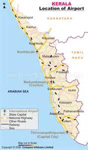 map us airports locations kerala flights