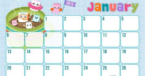 January 2013 Calendar Butterfly Kisses Of Free Printable January