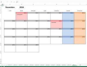 Calendrier Journalier Excel Calendrier Mensuel Excel Modifiable Et Gratuit Excel