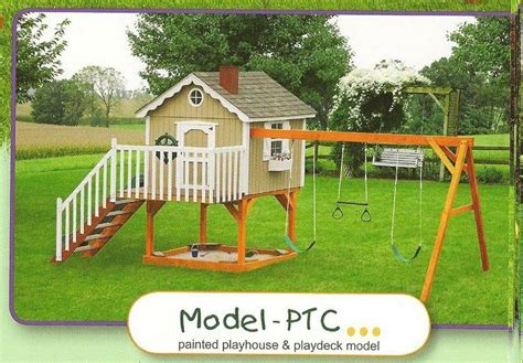 toddler swing sets and playhouses 25 best ideas about painted playhouse on pinterest