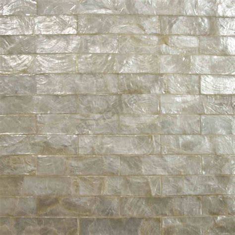 Country Kitchen Backsplash Tiles white capiz tiles brick pattern mesh backing for wall