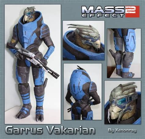 Mass Effect Papercraft - mass effect character paper crafts gadgetsin