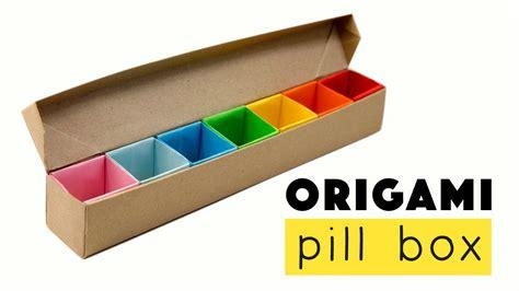 Origami Pill Box - origami pill box organizer tutorial diy