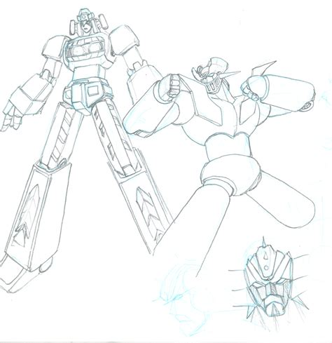 Mazinger Z Drawing by How To Draw Mazinger Z