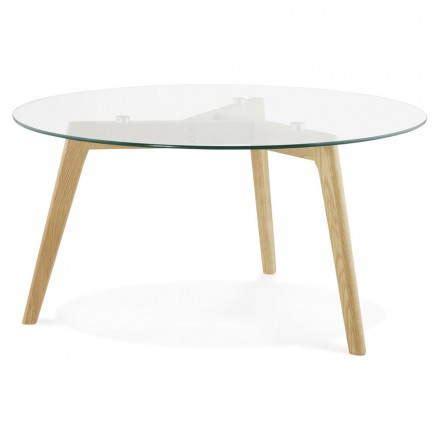 Meuble De Rangement Exterieur 3762 by Table Basse Style Scandinave Tarot En Verre Et Ch 234 Ne Massif