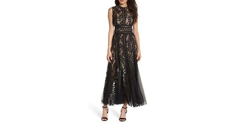 banco saba lyst bronx and banco saba fit flare gown in black