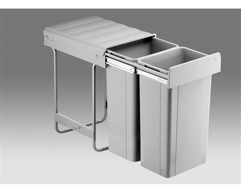 under bench garbage bins wesco 64 litre double kitchen bin w64 organise at the