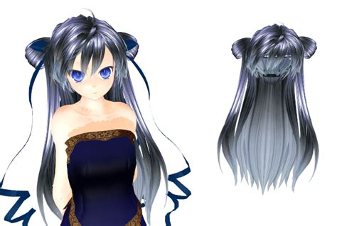 hair bun download mmd long hair with buns download by 9844 on deviantart