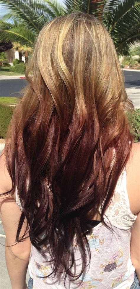 darker hair on top lighter on bottom is called reverse ombre fashion pinterest