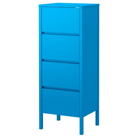 nordli chest of 4 drawers blue 48x125 cm ikea