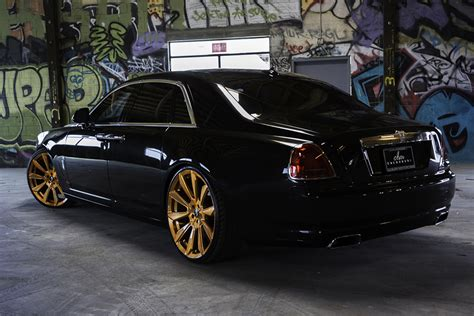 rolls royce gold rims good as gold rolls royce ghost on 26 f2 04 m