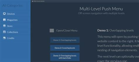 30款最佳免费的jquery导航菜单插件 Open资讯 Left Side Menu Website Templates Free