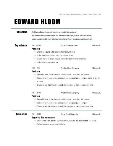 executive classic resume template free free executive classic format resume krida info