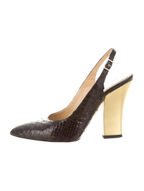 Olympia Margo Python Pumps Review by Olympia Python Slingback Pumps Shoes